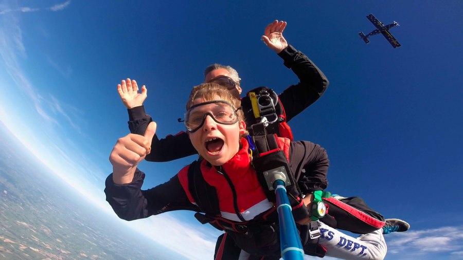 saut en parachute 105 kg